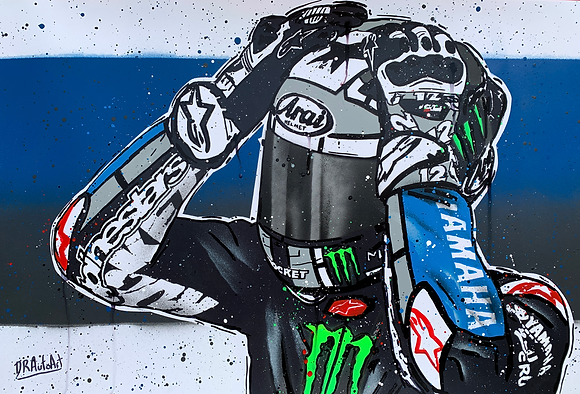 Maverick Vinales - Graffiti Painting