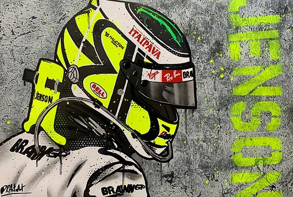 Jenson Button - Graffiti Painting