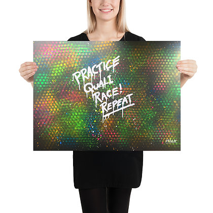 Practice, Quali, Race! Repeat - Photo paper poster