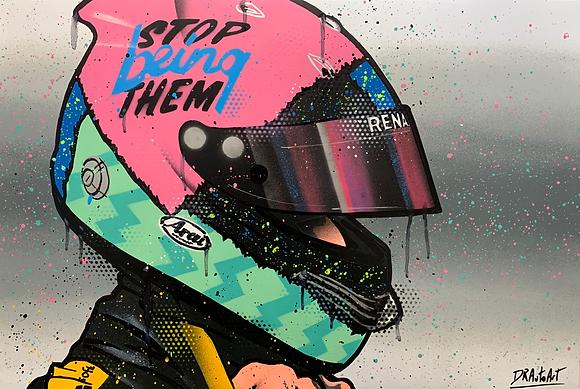 Daniel Ricciardo 2019 - Graffiti Painting