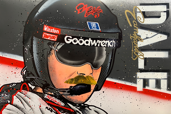 Dale Earnhardt - Graffiti Painting
