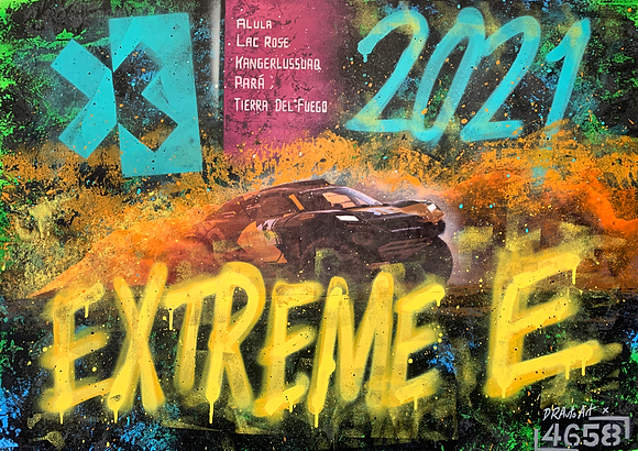 EXTREME E - One off Graffiti Painting, A1