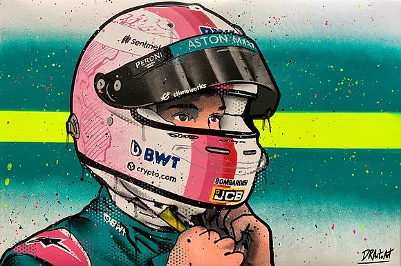 Sebastian Vettel, AM - Graffiti Painting