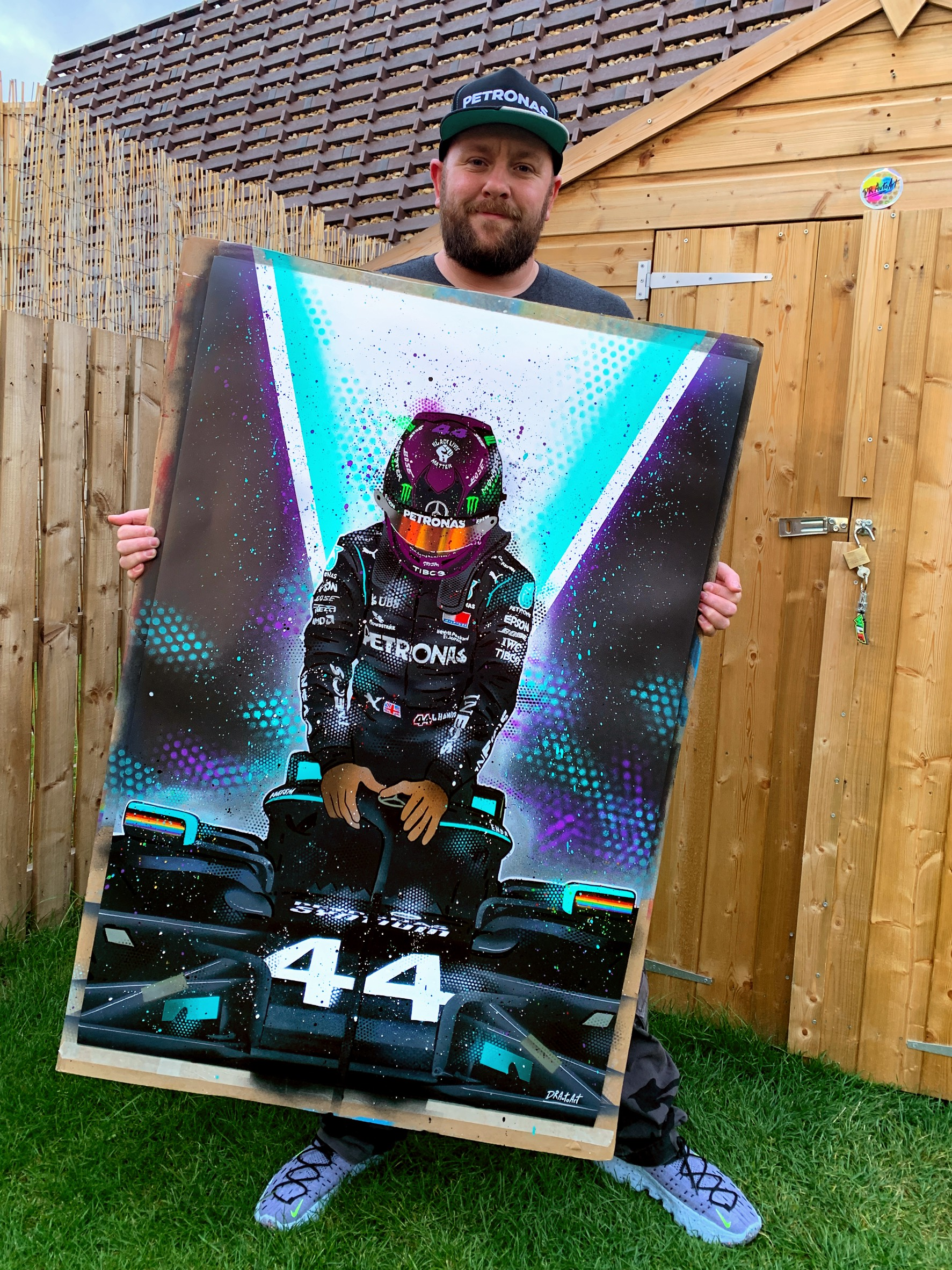 STILL WE RISE - Lewis Hamilton graffiti painting