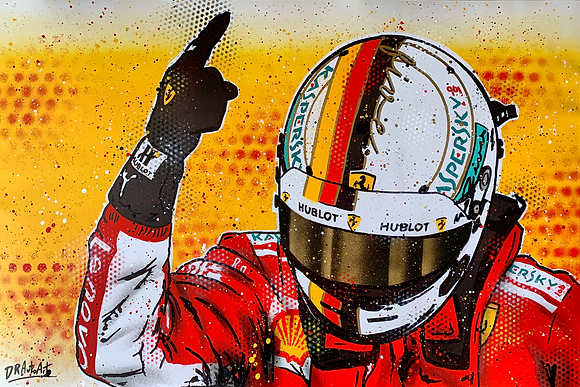 Sebastian Vettel - Graffiti Painting