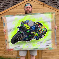 Valentino Rossi - Yamaha 2019 graffiti painting