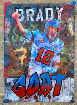 Brady GOAT - One off Graffiti Painting, A1