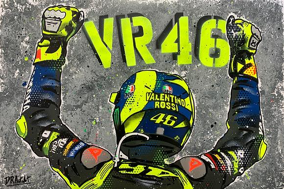 Valentino Rossi 2020 - Graffiti Painting