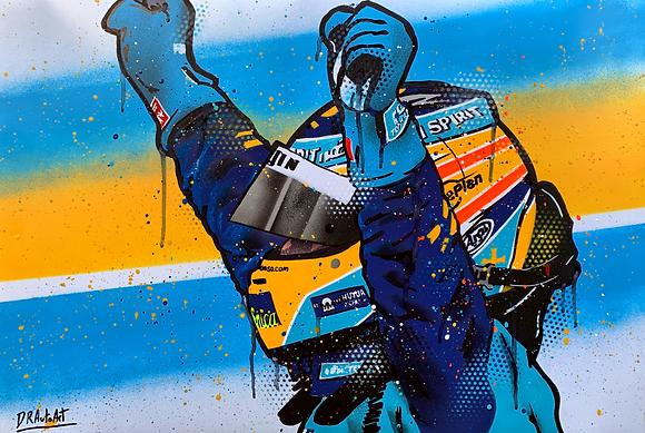 Fernando Alonso - Graffiti Painting
