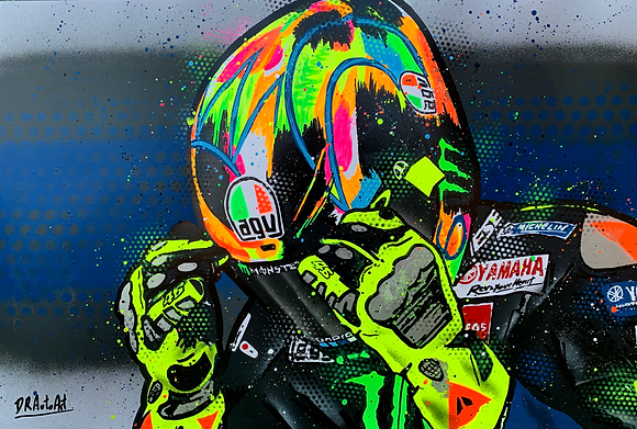 Valentino Rossi - WinterTest - Graffiti Painting