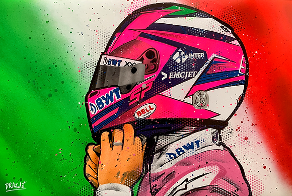 Sergio Perez - Graffiti Painting