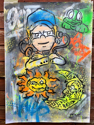 Rossi Toons - One off Graffiti Painting, A1
