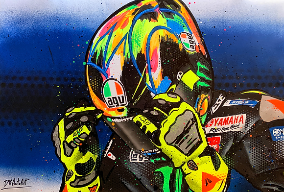 Valentino Rossi, WinterTest - Graffiti Painting