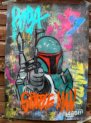 I'M JUST A SIMPLE MAN... - One off Graffiti Painting, A1
