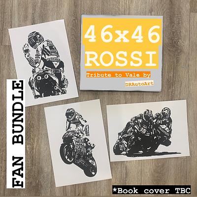 46X46 FAN BUNDLE - Tribute Book plus 3 Random A4 block prints. PRE-ORDER!