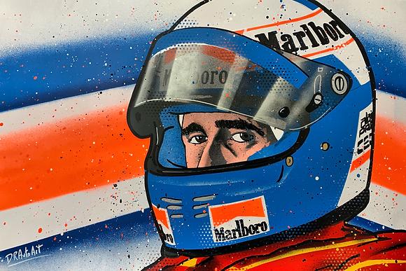 Alain Prost - Graffiti Painting
