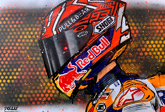 Marc Marquez - Graffiti Painting
