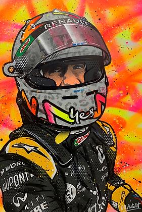 Daniel Ricciardo 2020 podium - Graffiti Painting