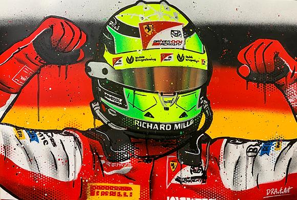 Mick Schumacher, 2020 F2 Champion - Graffiti Painting