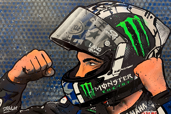 Maverick Vinales 2021 - Graffiti Painting