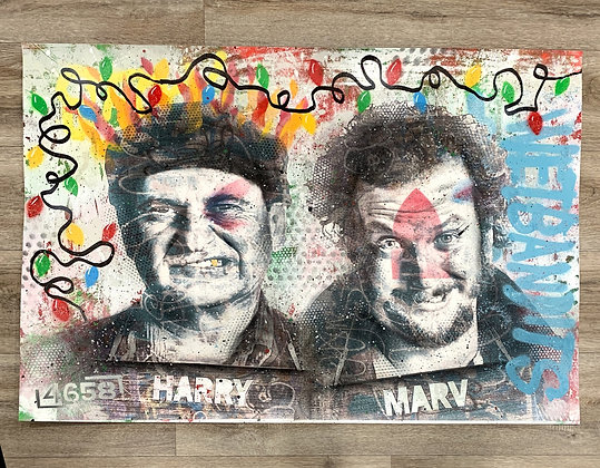 WET BANDITS - One off Graffiti Painting, A1