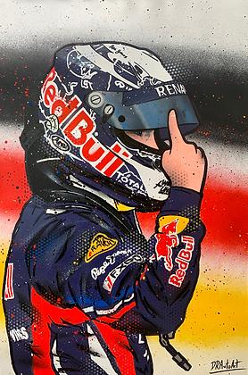 Sebastian Vettel, Red Bull - Graffiti Painting