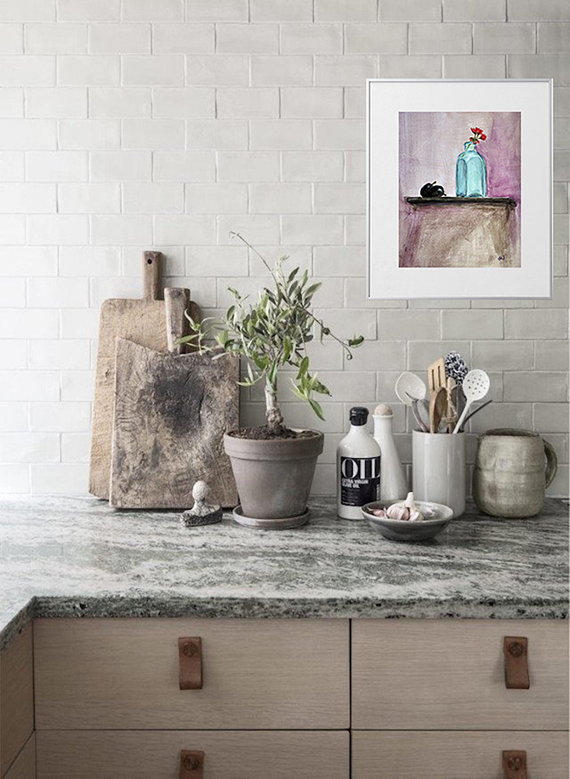 Plum and vase