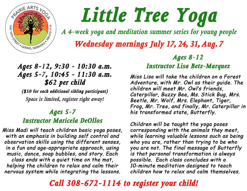 Little Tree Yoga class for kids flier.jp