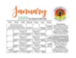 January 2020 with classes horizontal sma