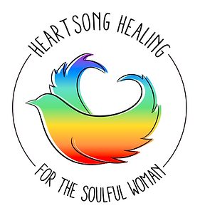 Heartsong Healing Logo with Soulful Woma