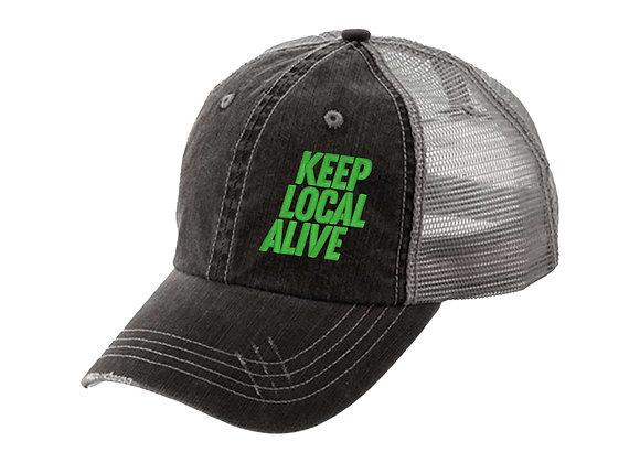 KLA Herringbone Trucker Cap