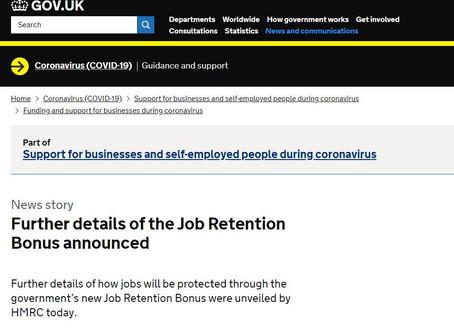 Job Retention Bonus Scheme