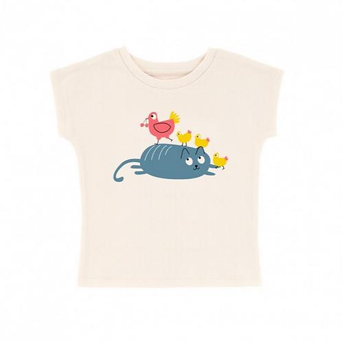 LQDC_T-shirt bébé chat poule