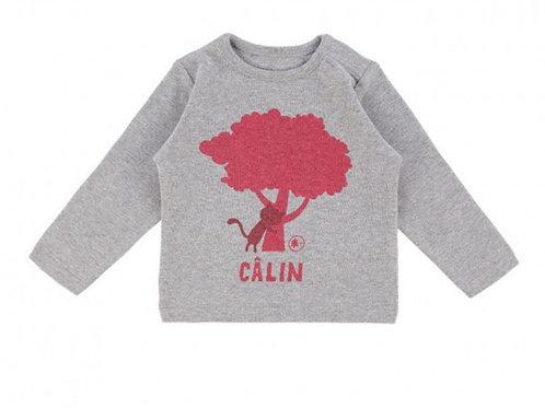 LQDC_T-shirt Bébé chêne gris chiné