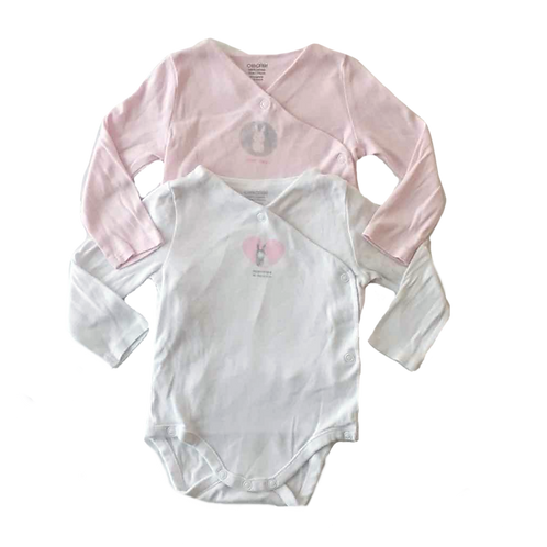 OBAIBI_LOT 2 BODY BLANC/ROSE _12M