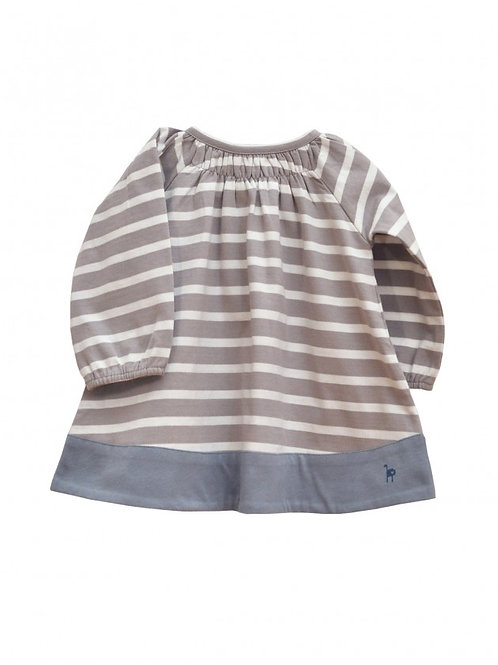 LQDC_Robe bébé rayée grise
