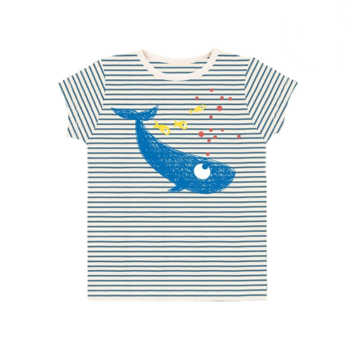 LQDC_T-shirt rayé baleine