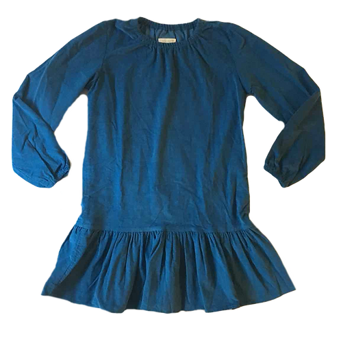 PETITS CARREAUX_ROBE VELOURS TURQUOISE_10A