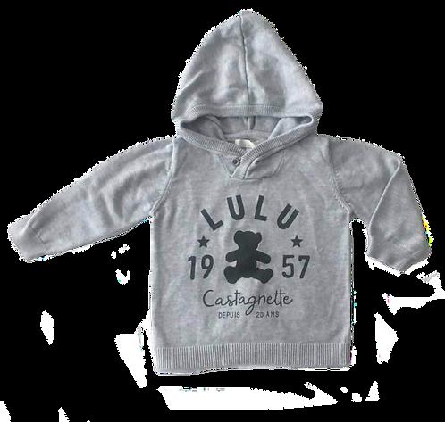 LULU CASTAGNETTE_PULL CAPUCHE GRIS_18M