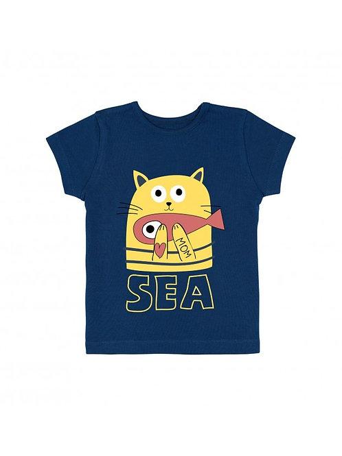 LQDC_Tshirt bleu marine
