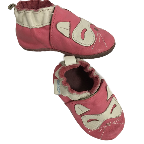 ROBEEZ_CHAUSSONS CUIR ROSE_P18/19