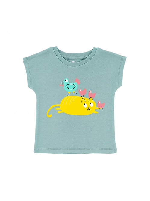 LQDC_T-shirt bleu cocotte