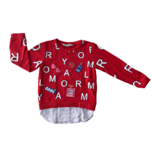 MAYORAL_SWEAT CHEMISE ROUGE_4A