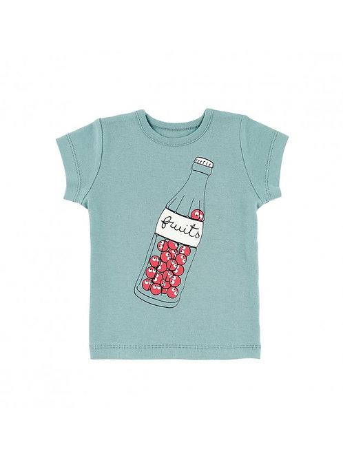 LQDC_T-shirt Enfant bleu fruits