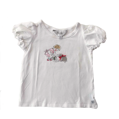 TSHIRT FILLE CHAT_18M