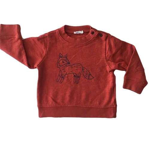 BOUTCHOU_SWEAT BRIQUE RENARD_12M