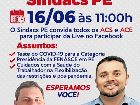 Presidente Interino da FENASCE, Alexsandro Lopes, participa da Live do SINDACS PE