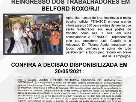 Vitória da Fenasce na luta pelo reingresso dos trabalhadores em Belford Roxo/RJ