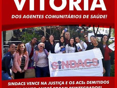 VITÓRIA DOS TRABALHADORES AGENTES COMUNITÁRIOS DE SAÚDE DE SANTO ANDRÉ – SP