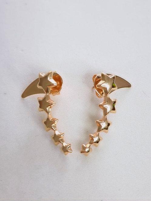 Brinco Ear Cuff Estrelas Lisas